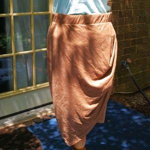 NWT Pencil papaya skirt